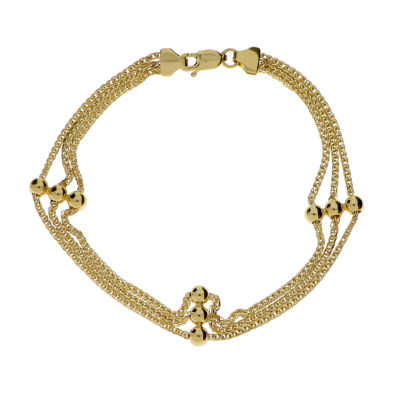 Made in Italy 14K Gold 7.5 Inch Link Chain Bracelet