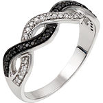 Womens 1/5 CT. T.W. Genuine White Diamond Sterling Silver Cocktail Ring