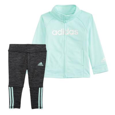 adidas Tricot Jacket and 2-pc. Legging Set-Baby Girls
