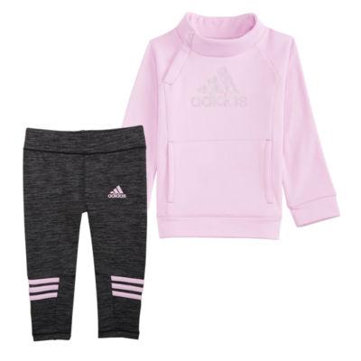 adidas Cozy Fleece 2-pc. Legging Set-Baby Girls