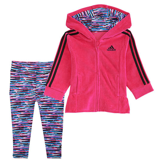 Adidas Velour Tight Set Baby Girls 2 Pc Legging Set Baby Girls