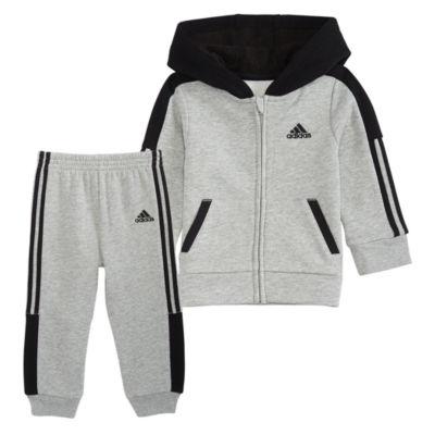 adidas Fleece Athletics 2-pc. Logo Pant Set Baby Boys