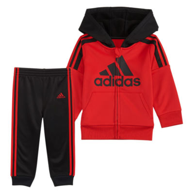adidas Fleece Jacket 2-pc. Logo Pant Set Baby Boys
