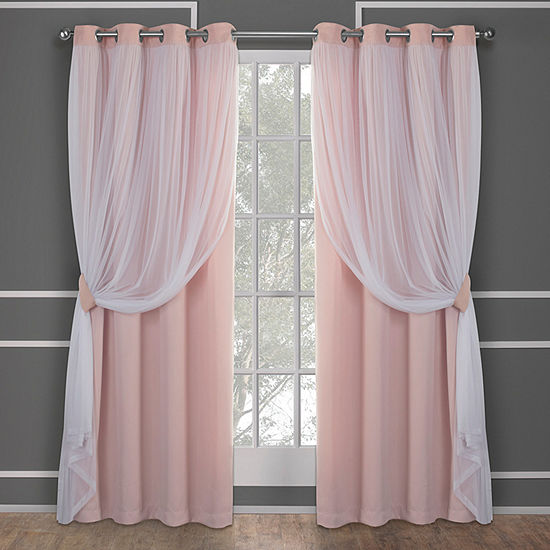 Catarina Multi-Pack Energy Saving Blackout Grommet-Top Curtain Panel