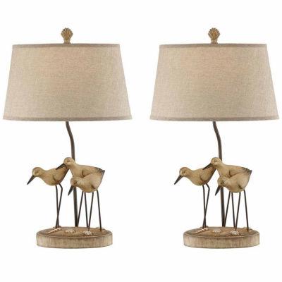 Seahaven Trio Shore Birds Table Lamp Set