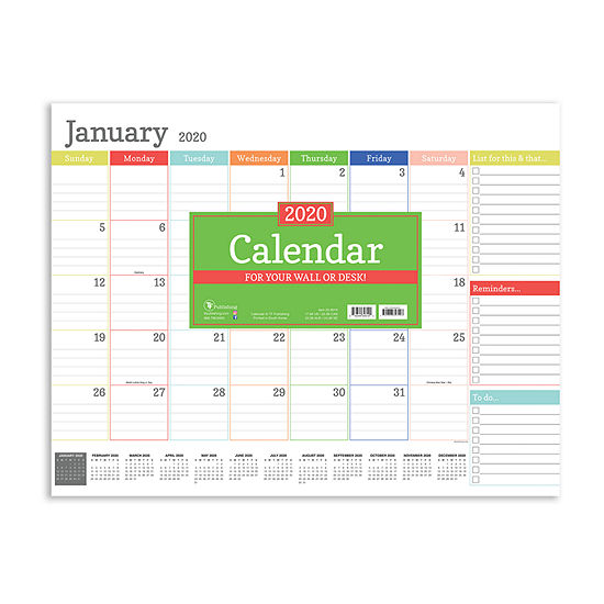 Tf Publishing 2020 Rainbow Blocks Desktop Calendar
