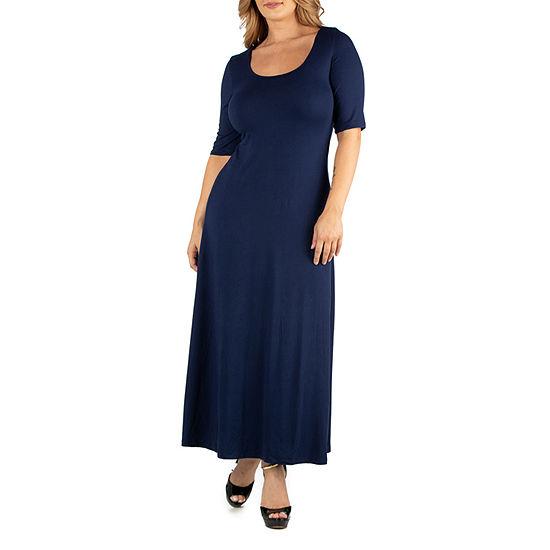24/7 Comfort Apparel Casual Maxi Dress - Plus