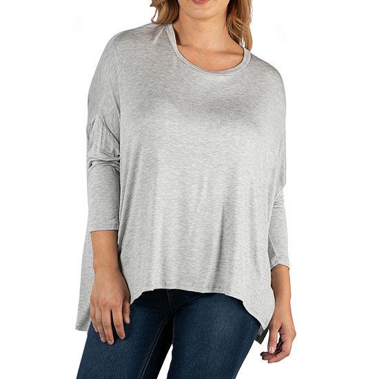 24/7 Comfort Apparel Oversized  Long Sleeve Top