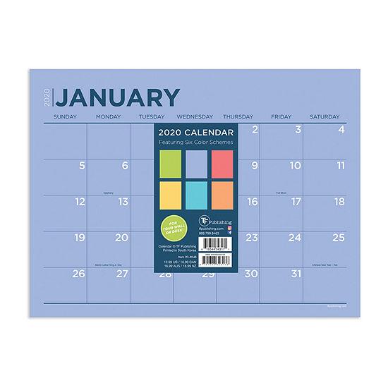 Tf Publishing 2020 Full Color Mini Desktop Calendar