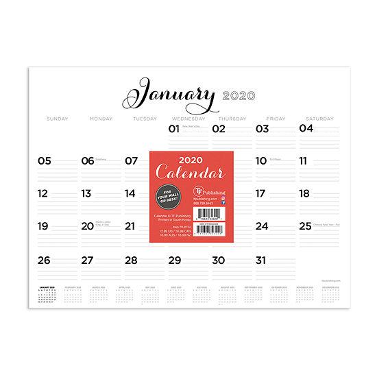 Tf Publishing 2020 Scripted Lines Mini Desktop Calendar