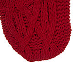 Glitzhome Knitted  Polyester Red Christmas Stocking