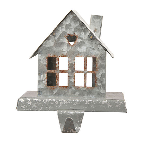 Glitzhome Galvanized House Stocking Holder