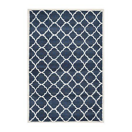 Safavieh Keaton Geometric Hand Tufted Wool Rug. One Size . Blue