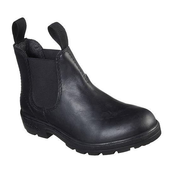 Skechers Womens Peaked Flat Heel Chelsea Boots