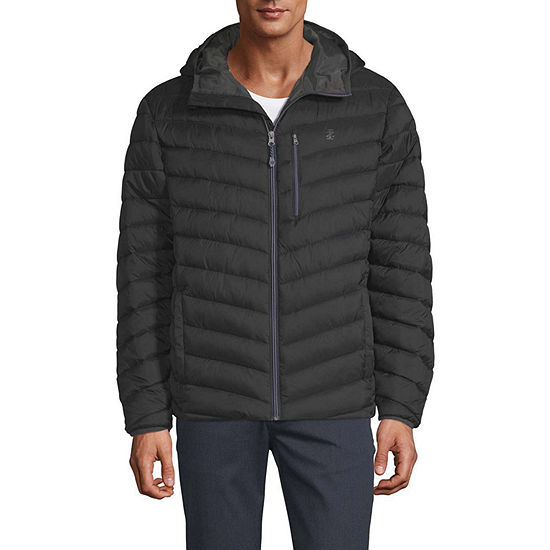 IZOD Hooded Midweight Puffer Jacket