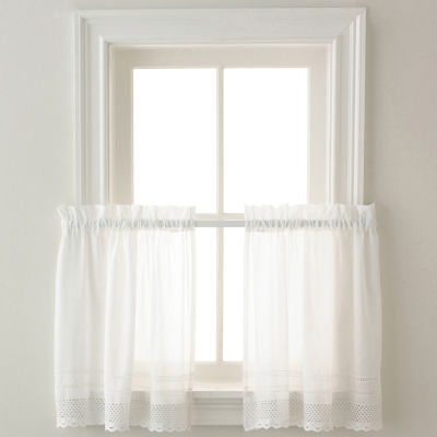 Crochet 2 pack Rod-Pocket Window Tiers