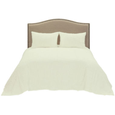 Channel Chenille Bedspread