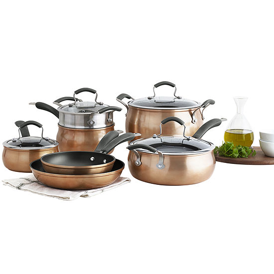 Epicurious 11-pc. Aluminum Dishwasher Safe Cookware Set