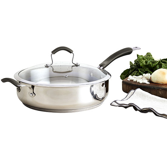 """Epicurious® 12"""" Stainless Steel Jumbo Cooker with Lid"""