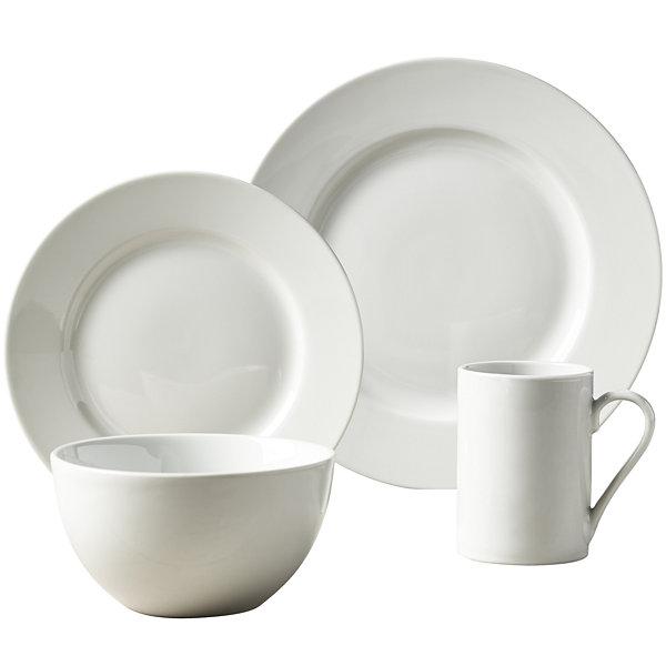 Tabletops Unlimited® Soleil Round Rim Porcelain 16-pc. Dinnerware Set  sc 1 st  JCPenney & Soleil Round Rim 16 pc Dinnerware Set