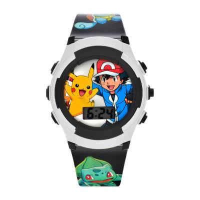 Boys Silver Tone Strap Watch-Pok3018jc16