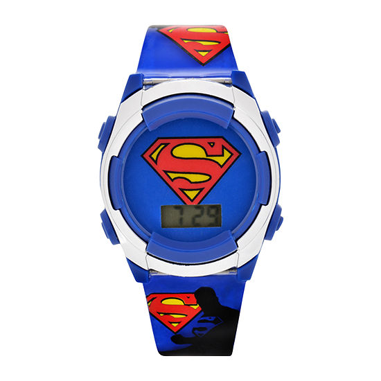 Superman Boys Red Strap Watch-Sup4183jc16