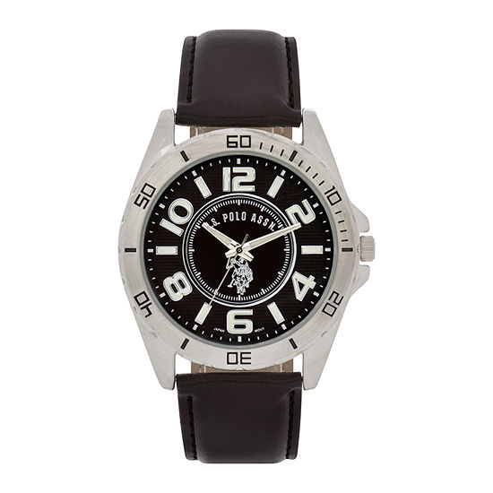 U.S. Polo Assn. Mens Brown Strap Watch-Usc50003jc