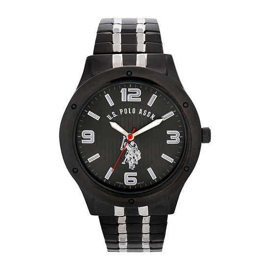 U.S. Polo Assn. Mens Green Strap Watch-Usc80195jc