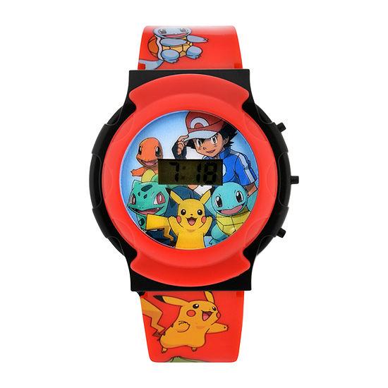 PJ Masks Boys Digital Red Strap Watch-Pok3044jc
