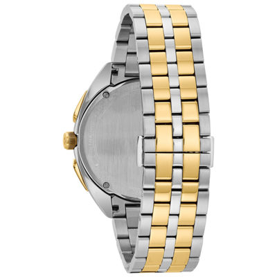 Bulova Curv Mens Two Tone Bracelet Watch-98a159