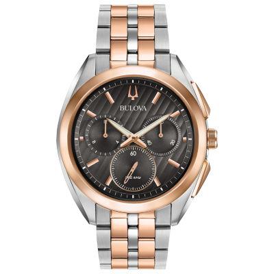Bulova Curv Mens Two Tone Bracelet Watch-98a160