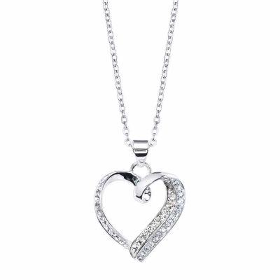Sparkle Allure Womens White Round Pendant Necklace