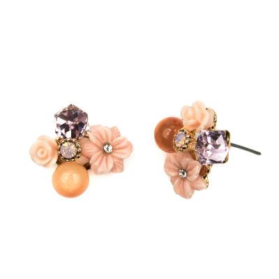 Decree Pink Stud Earrings