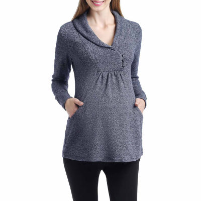 Momo Baby Long Sleeve Pullover Sweater-Maternity