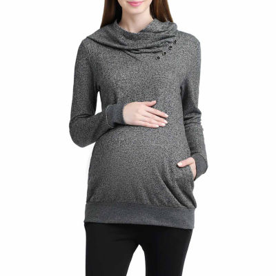 Momo Baby Ella Long Sleeve Pullover Sweater-Maternity