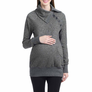 Momo Baby Alaina Long Sleeve Pullover Sweater-Maternity