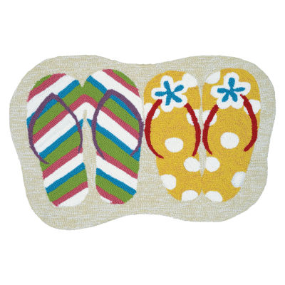 Couristan Summer Sandals Hooked Rectangular Rugs