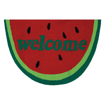 Couristan Watermelon Welcome Hooked Rectangular Rugs