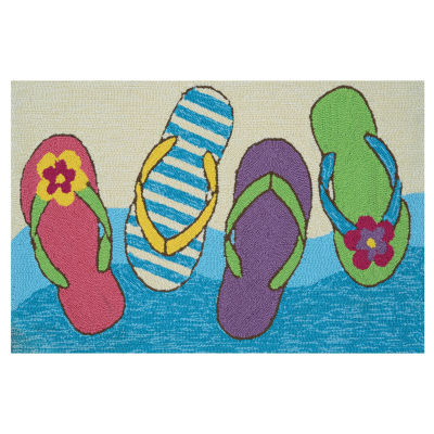 Couristan Flip Flopped Hooked Rectangular Rugs