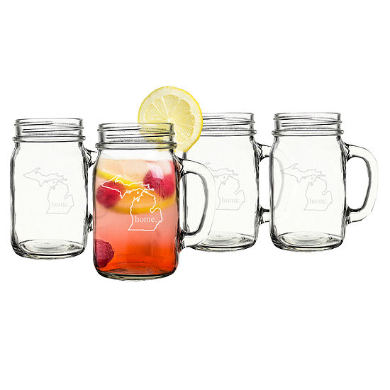 Cathy's Concepts Home State 4-pc. Mason Jar