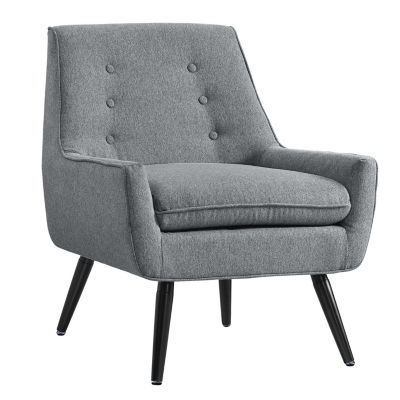 Trelis Flannel Tufted Fabric Club Chair