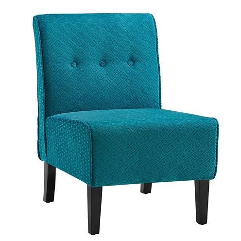 Coco Tufted Fabric Slipper Chair