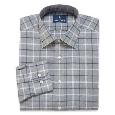 Stafford® Long-Sleeve Brushed Twill Dress Shirt