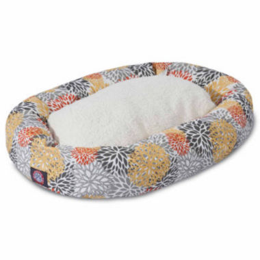 Majestic Pet Bamboo Sherpa Bagel Dog Bed