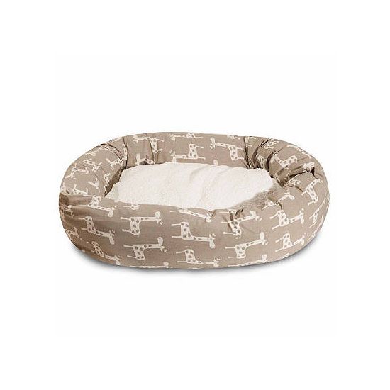 Majestic Pet Stretch Sherpa Bagel Pet Bed