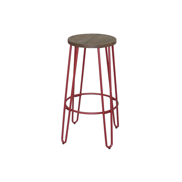 Quinn Barstool In Matte Black Finish