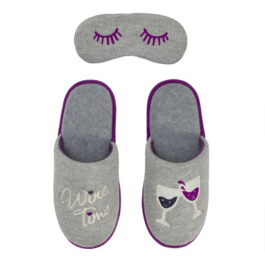 Dearfoams Slipper with Eyemask