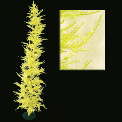 Whimsical Yellow Laser Artificial Christmas Tree 4'