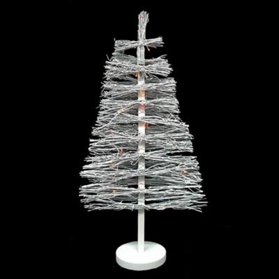 3' Pre-Lit White Country Twig Artificial ChristmasTree - Multi Lights