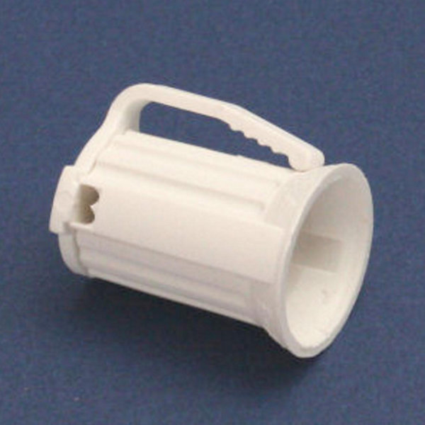 Club Pack of 100 C9 White Christmas Light Bulb Sockets - For 18 Gauge Wire